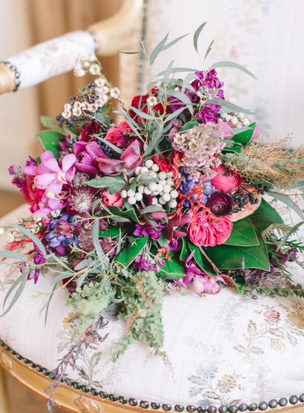 Winter Wedding in Berry Tones
