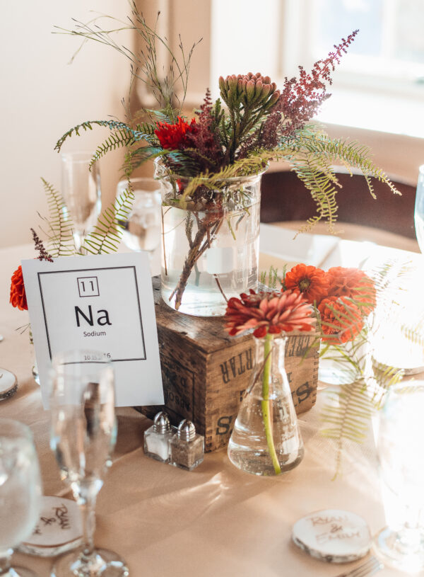Colorful Chemistry Inspired Wedding