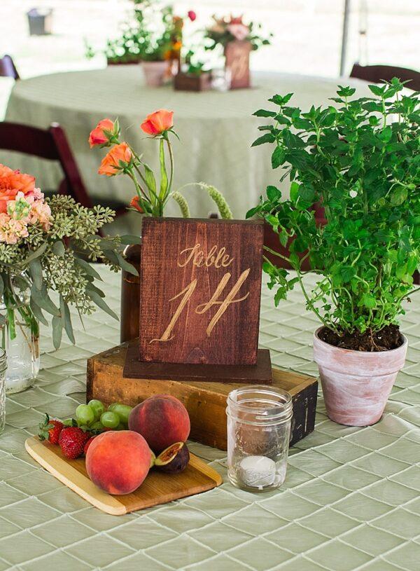 Farmers' Market Inspired Summer Wedding