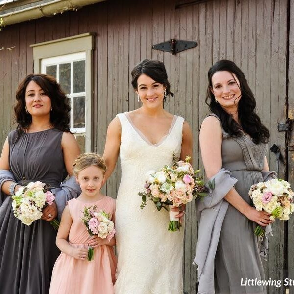 Romantic Gray and Blush Wedding