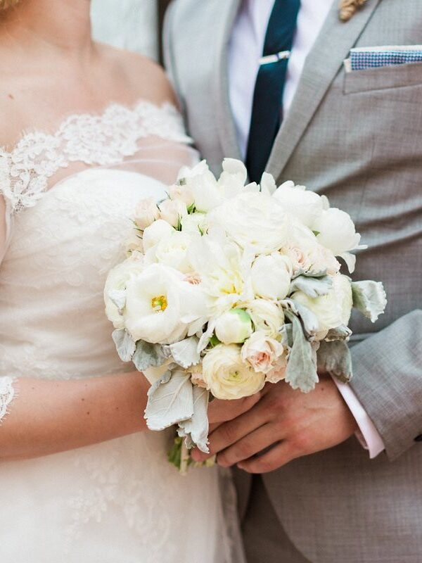 Soft and Romantic White Wedding