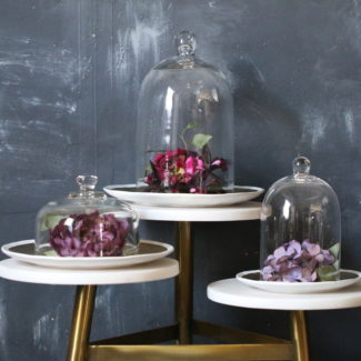 Glass Cloche Wedding Centerpieces