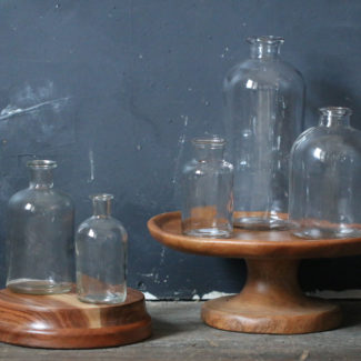 Vintage Glass Bottle Centerpiece