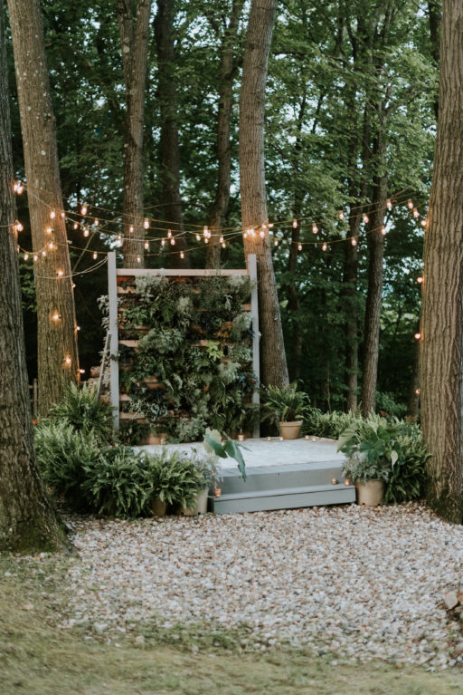 Greenery Pallet Wall and Stage
