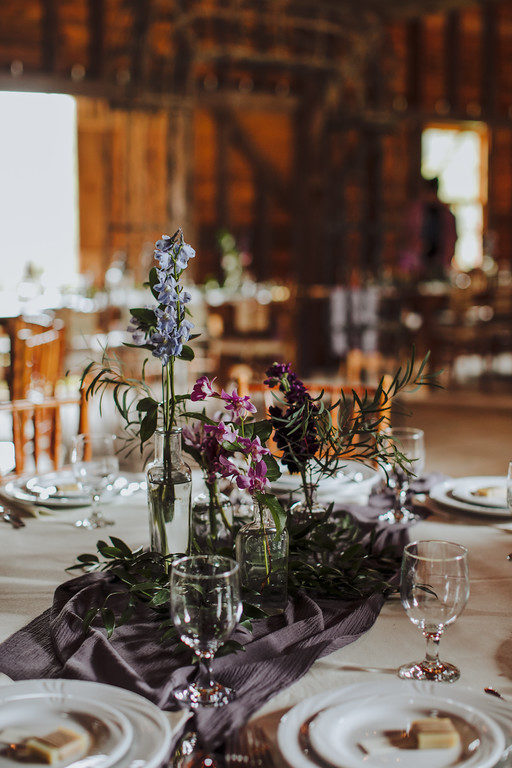Medieval purple stone centerpiece