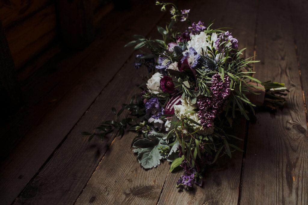 Medieval purple bridal