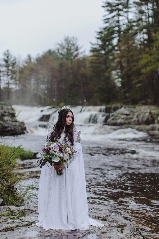 Medieval purple stone bridal