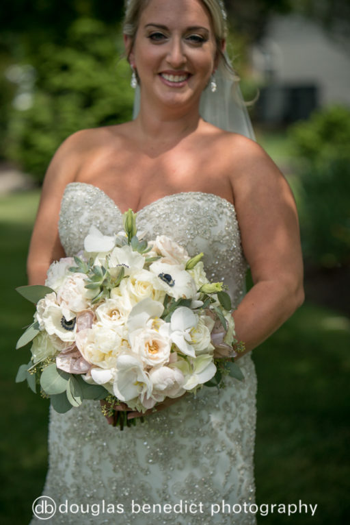 white and sage bridal bouquet