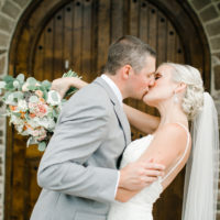 A Classic Peach and Winery Wedding