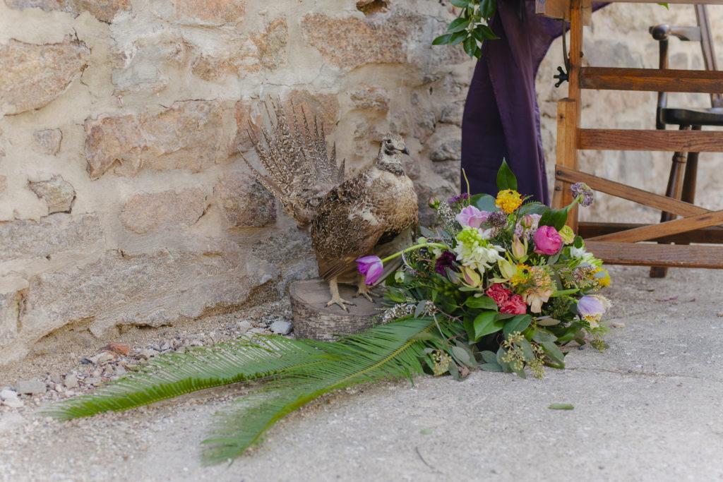 blues, gem tones, mineral stones, bohemian styled shoot bridal bouquet