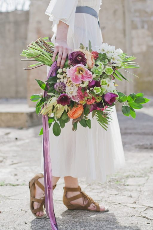 blues, gem tones, mineral stones, bohemian styled shoot bridal