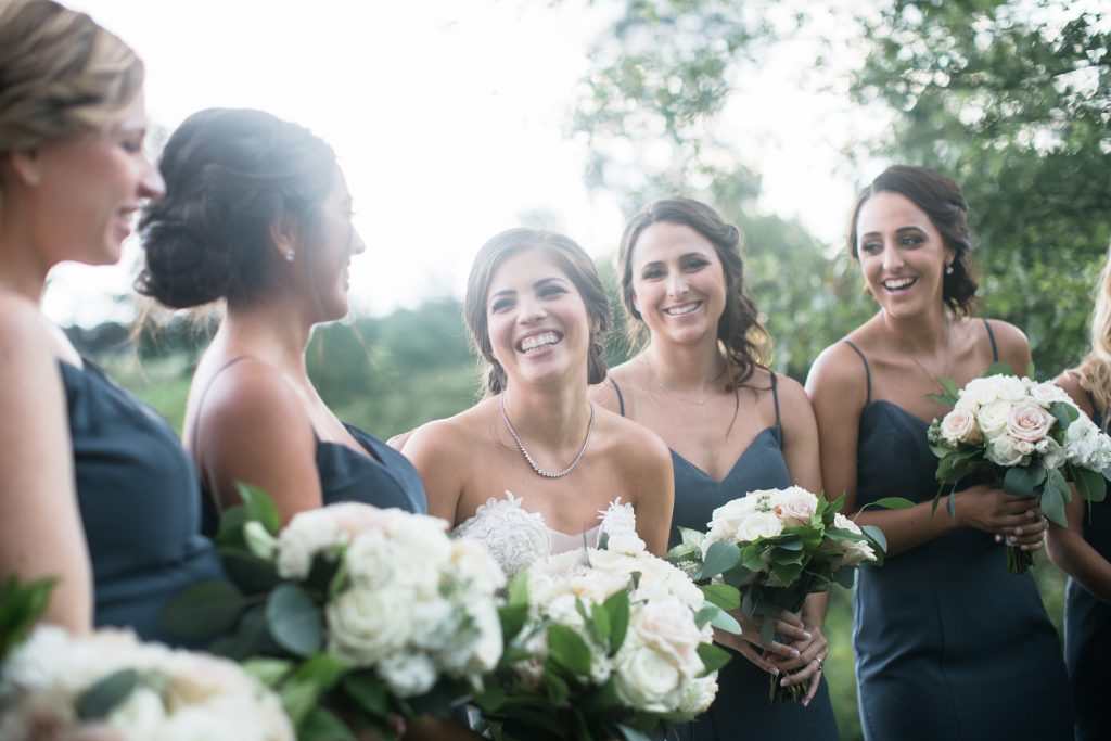 blush, cream, green, light and airy, classic wedding bridesmaids