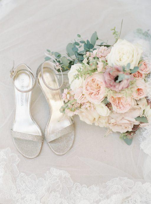 Blush, sage green, peony, fall wedding bridal bouquet details