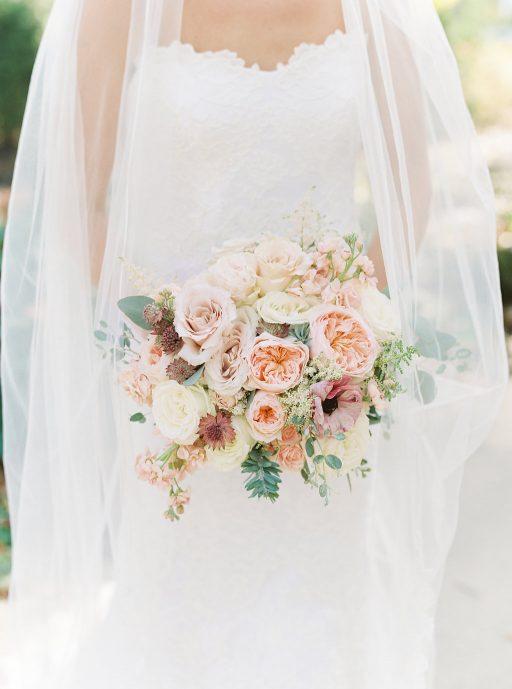 Blush, sage green, peony, fall wedding bridal bouquet