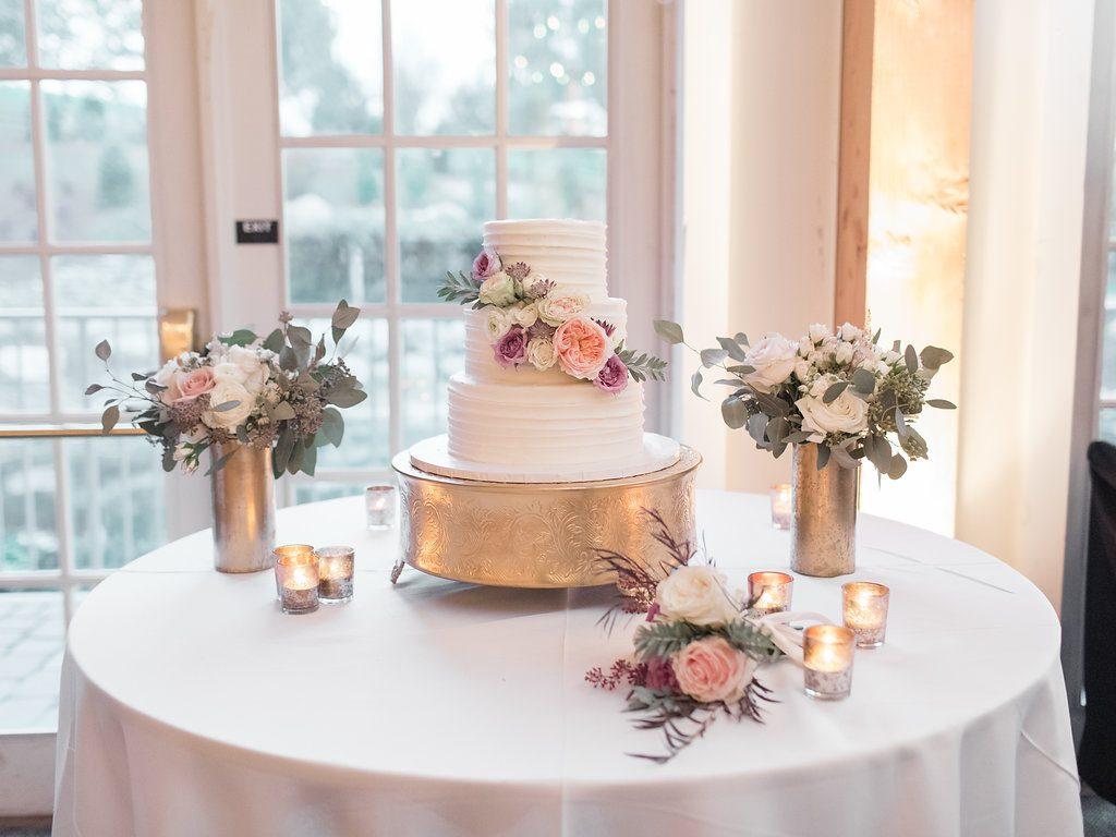 Blush, sage green, peony, fall wedding cake