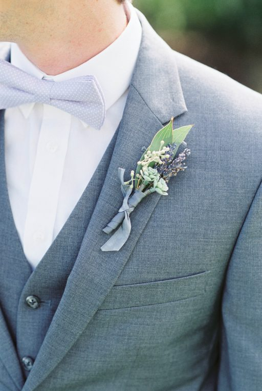 Lavender, greenery, garden, succulents, dahlias, wedding, boutonniere