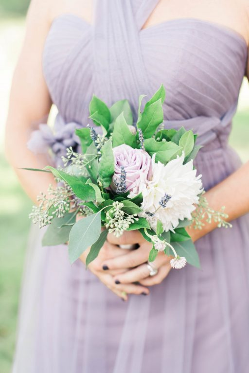 Lavender, greenery, garden, succulents, dahlias, wedding, bridemaids mini bouquet