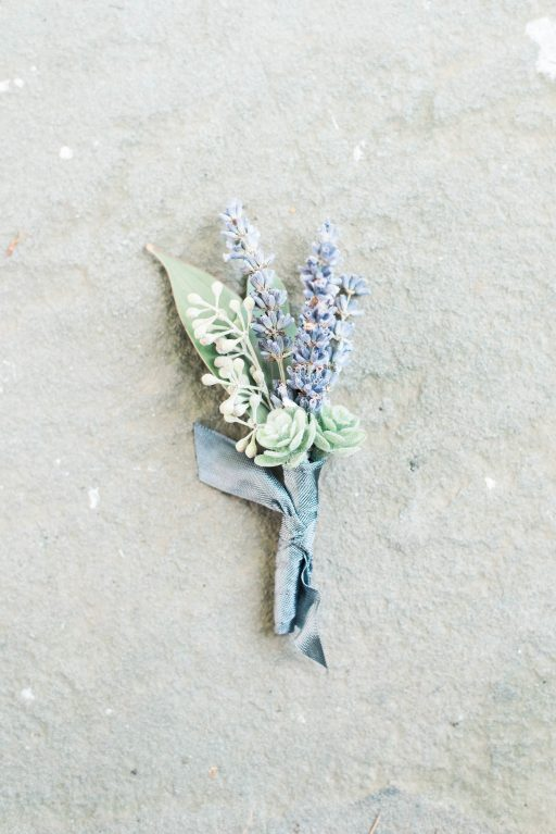Lavender, greenery, garden, succulents, wedding, boutinnere