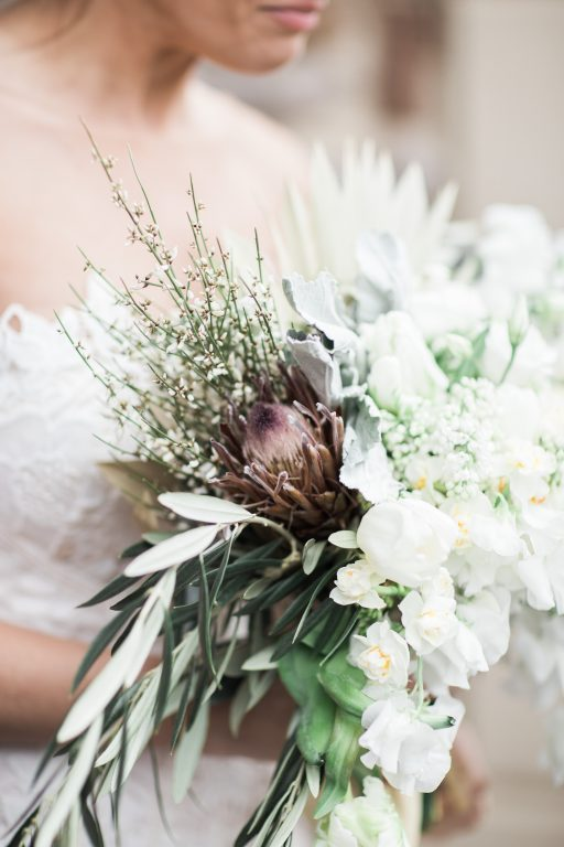 vineyard, winery, spring time, tulips, white floral, greenery, bridal bouquet