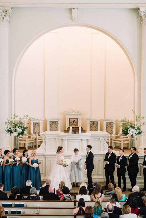 white hydrangea, peonies, tulips, stock, majolica, spring wedding, classic, ceremony