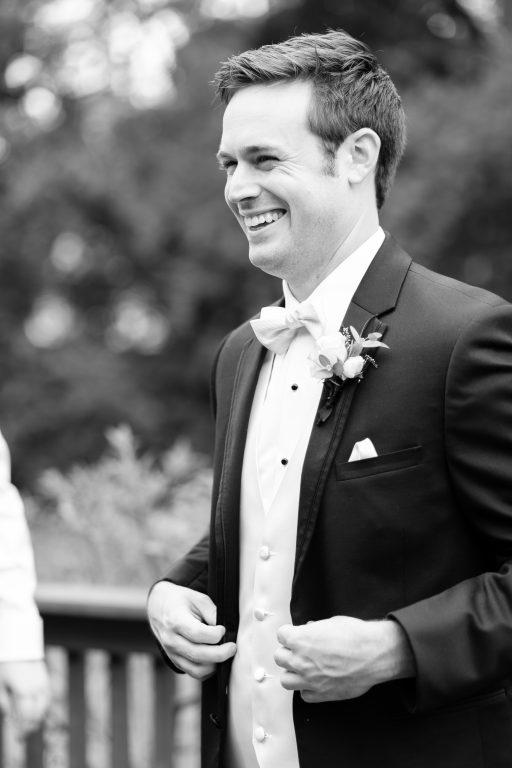 Subtle fall wedding, classic, elegant, peach, blues, hint of orange, blue thistle, roses, eucalyptus, delphinium, groom.