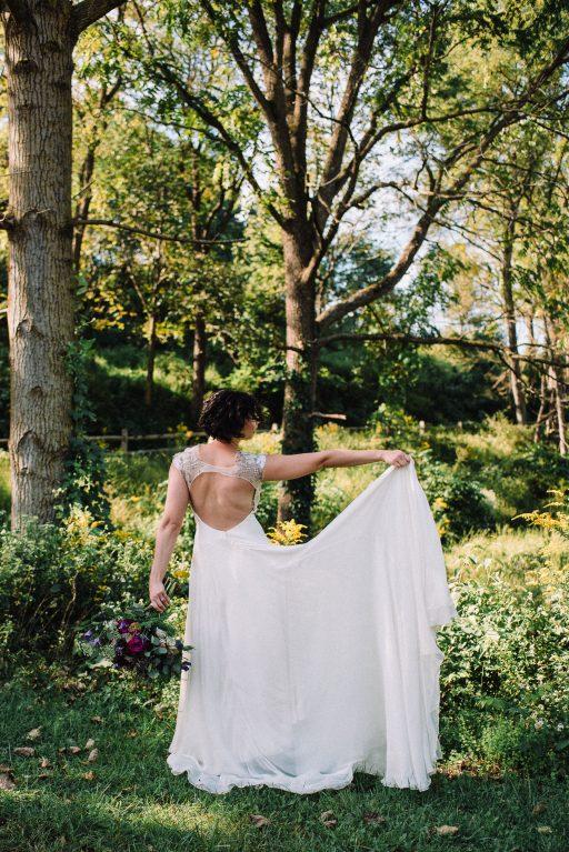 Whimsical, fall, autumn, jewel tones, gardeny, greenery, purples, blues, organic, wedding, bride.