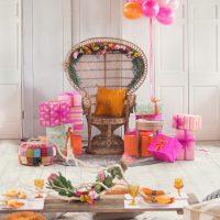Bridal Shower Styled Shoot, flower crowns, flower necklace, pink, purple, orange, spring florals, summer florals.