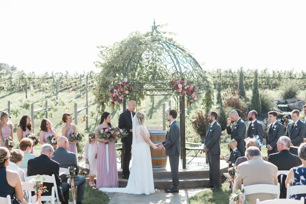floral, boho, colorful, anthropologie-esque, marsala, pink, green, cream, gold, hint of raspberry, ceremony.