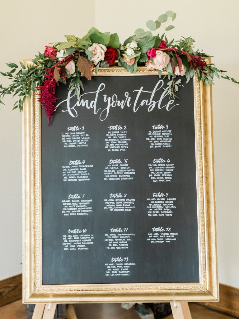floral, boho, colorful, anthropologie-esque, marsala, pink, green, cream, gold, hint of raspberry, escort tables, floral swag.
