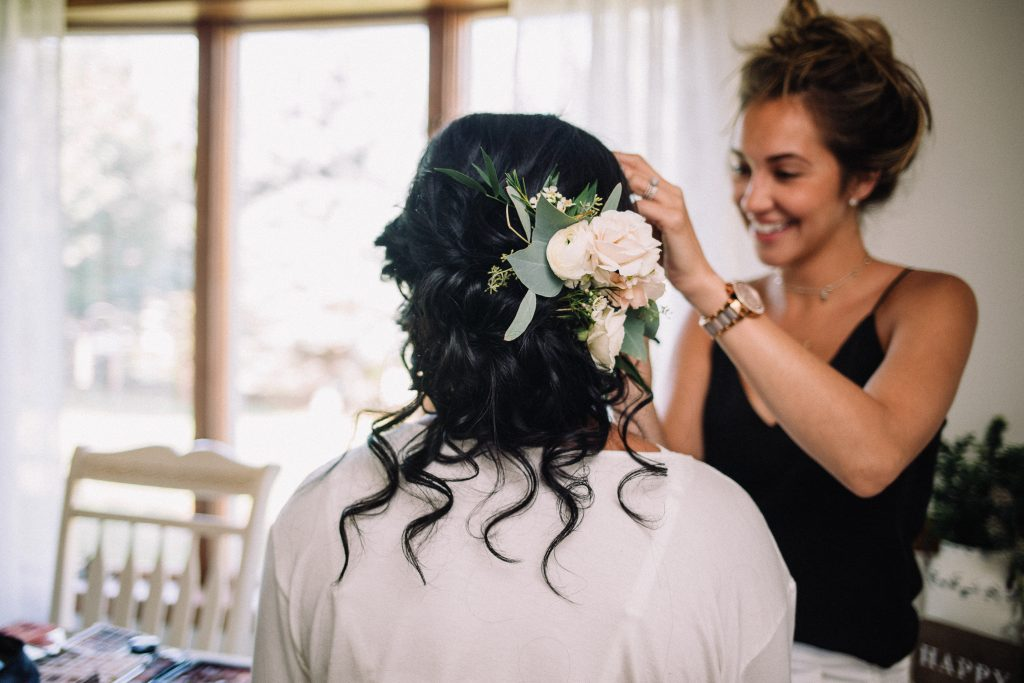 whimsical, boho, enchanted, secret garden, summer wedding, cream, blush, greenery florals, bride and bridal hair comb.