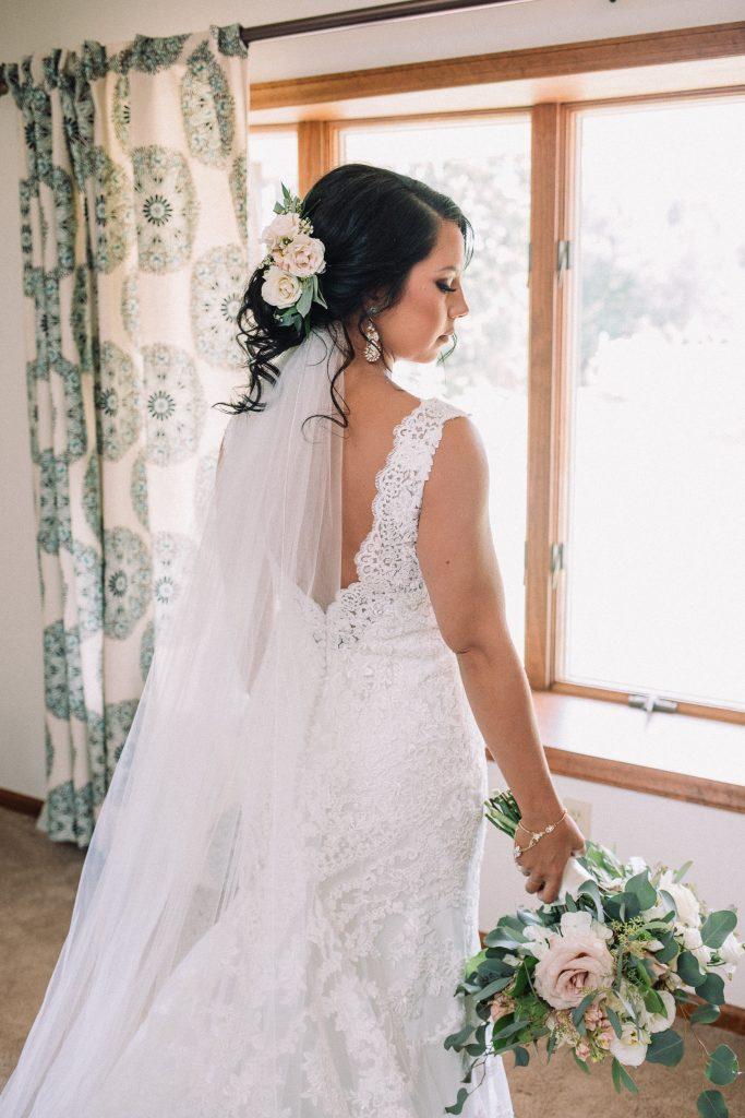 whimsical, boho, enchanted, secret garden, summer wedding, cream, blush, greenery florals, bridal bouquet.