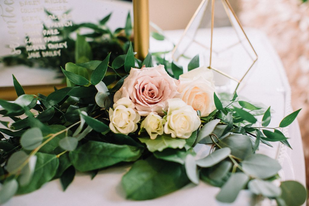 whimsical, boho, enchanted, secret garden, summer wedding, cream, blush, greenery florals.