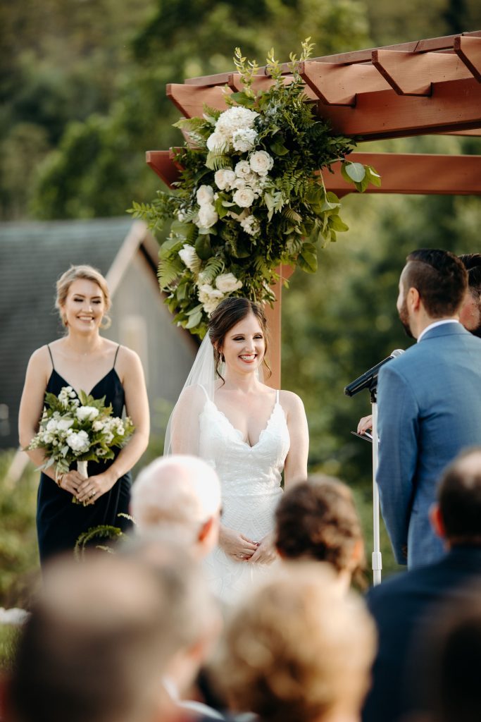 Summer wedding, fun, party of the summer, greens, ferns, forest greens, rose gold, copper, cream, ceremony.