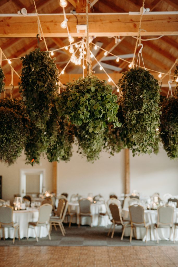 Summer wedding, fun, party of the summer, greens, ferns, forest greens, rose gold, copper, cream, greenery chandeliers.