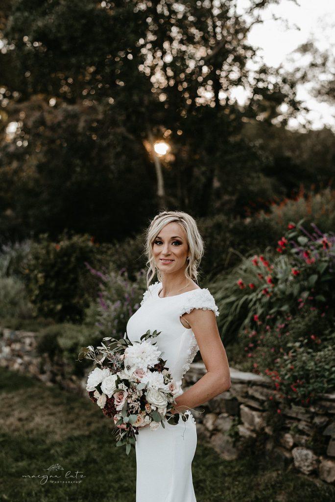 Lehigh Valley Wedding, wedding, fall wedding, delicate, perfection, romantic, ethereal, greens, whimsical, burgundy, navy, blush, cream, peach, elegant, garden, bride.