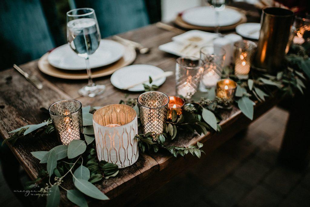 Lehigh Valley Wedding, wedding, fall wedding, delicate, perfection, romantic, ethereal, greens, whimsical, burgundy, navy, blush, cream, peach, elegant, garden, sweetheart table, candles, votives, greenery.