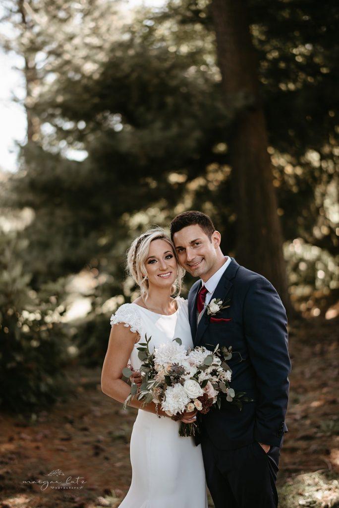 Lehigh Valley Wedding, wedding, fall wedding, delicate, perfection, romantic, ethereal, greens, whimsical, burgundy, navy, blush, cream, peach, elegant, garden, bride and groom.