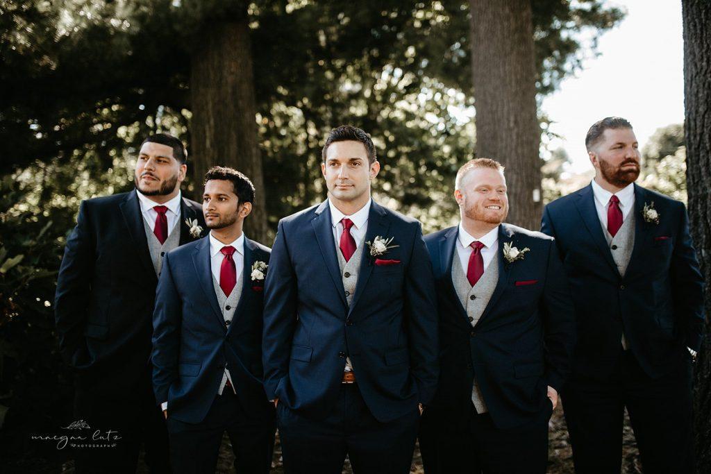 Lehigh Valley Wedding, wedding, fall wedding, delicate, perfection, romantic, ethereal, greens, whimsical, burgundy, navy, blush, cream, peach, elegant, garden, groom and groomsmen.