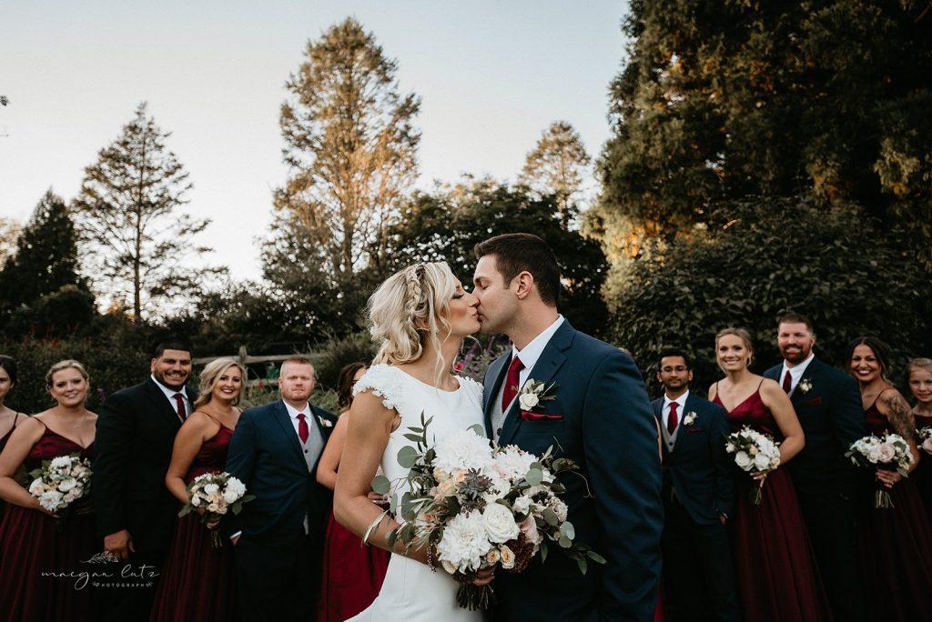 Lehigh Valley Wedding, wedding, fall wedding, delicate, perfection, romantic, ethereal, greens, whimsical, burgundy, navy, blush, cream, peach, elegant, garden, bridal party.