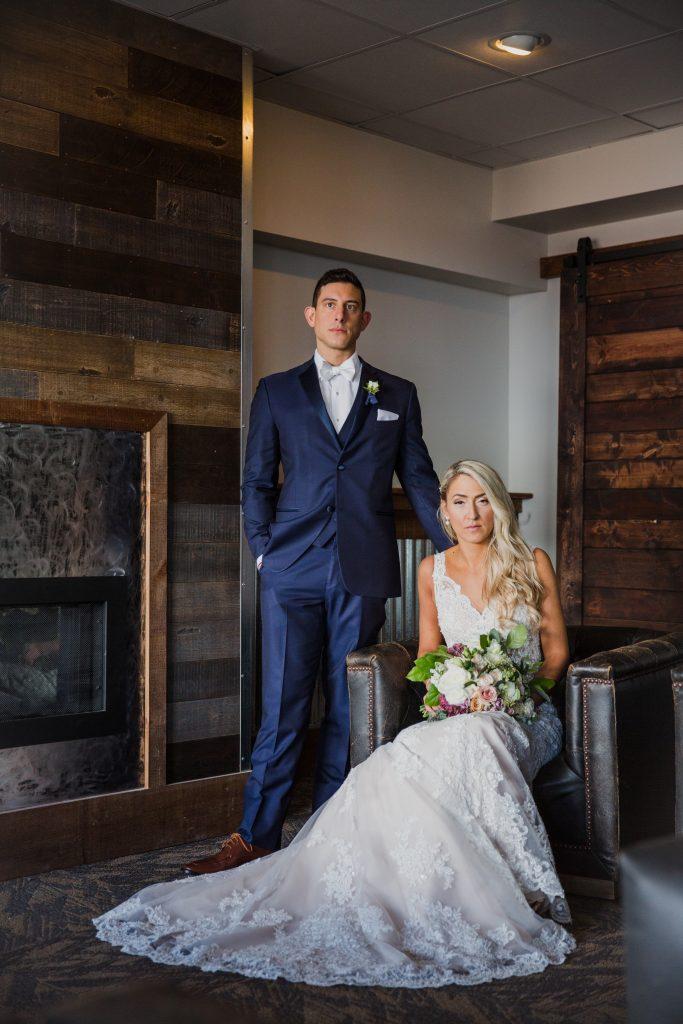 Rustic but elegant wedding, mauve, navy, blush, green, cream, lavender, florals, organic, bride and groom.