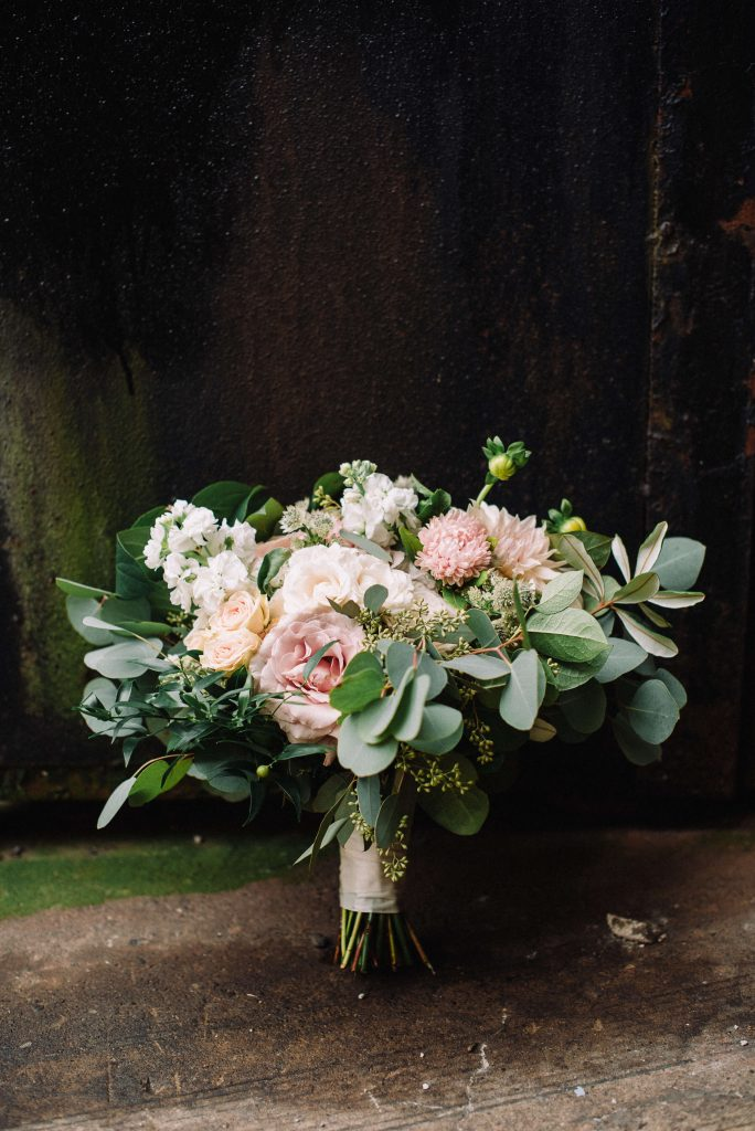 Lehigh Valley wedding, lehigh valley wedding florist, wedding florist, fall wedding, september wedding, romantic, down to earth, big party, Cream, greenery, blush, pale peach, rose gold, details.