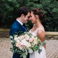Lehigh Valley wedding, lehigh valley wedding florist, wedding florist, fall wedding, september wedding, romantic, down to earth, big party, Cream, greenery, blush, pale peach, rose gold, bride and groom.