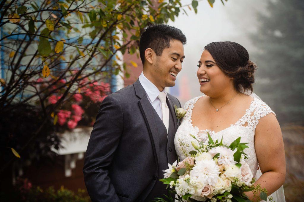 Lehigh Valley wedding, lehigh valley florist, romantic, simple, wine, burgundy, blush, cream, fall wedding, white and blush, bride and groom.