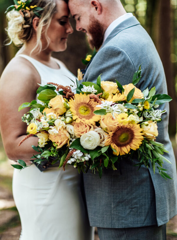 Modern, Natural, Sunflower Wedding