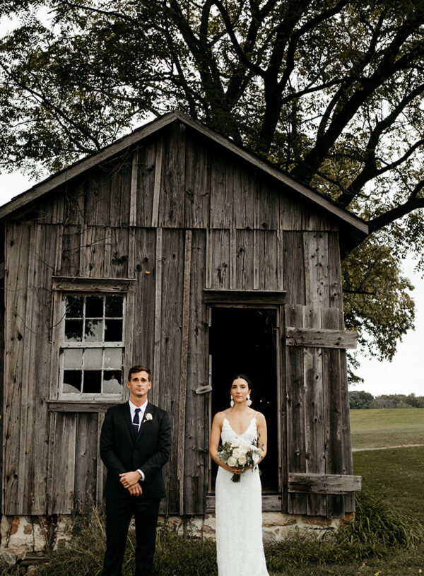 Lush Greenery and Soft White Florals Completed the Romantic Look for Amanda and Forrest's September Wedding…