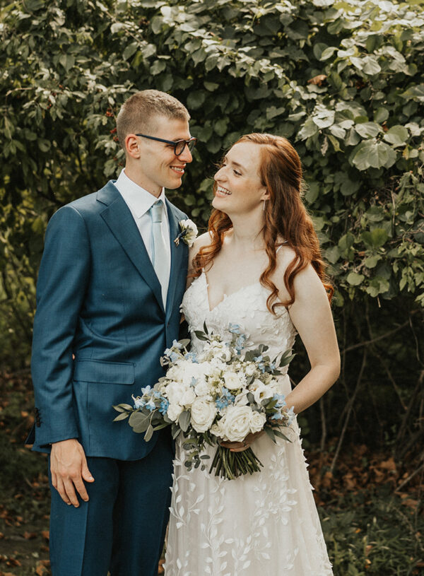 Soft Creams and Blues: Beautiful Countryside Wedding