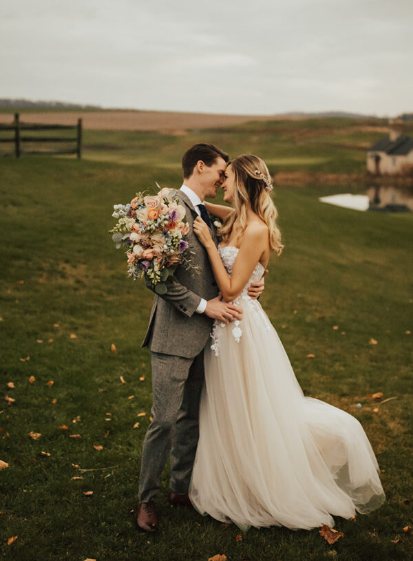 Pretty and Playful: A Pennsylvania Countryside Wedding