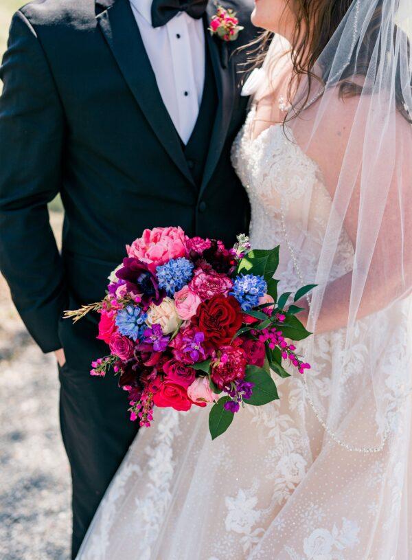 A Jewel-Toned Spring Wedding